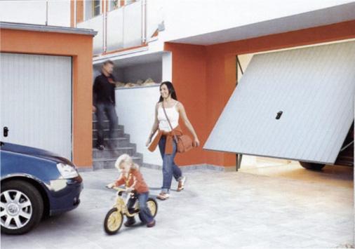 автоматические гаражные ворота normstahl